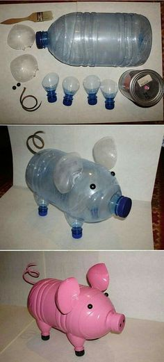 30 Amazing DIY Decorating Ideas With Recycled Plastic Bottles - doityourzelf Reuse Plastic Bottles, Plastic Bottle Crafts, Recycled Bottles, Projects For Kids, Diy For Kids, Plastik Recycling, Crafts To Do, Crafts For Kids, Pet Bottle