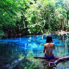 the blue pool - Krabi, Thailand