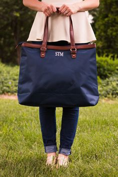 SALE  Monogrammed Carry All Tote Bag  by SouthernTradeMark on Etsy