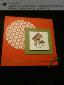 Thank You Card with Happy You Stamp Set from Stampin' Up! 2012-2013 Hostess Set