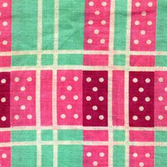vintage fabric/ I see this in a little girls room with mint green walls, pink and white bedding with this fabric as curtains and an accent pillow.