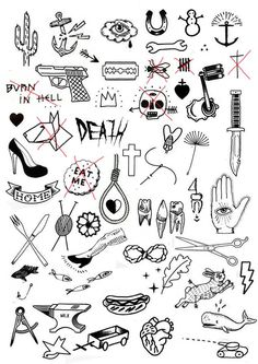 Small Filler Tattoos : small, filler, tattoos, Filler, Tattoo, Ideas, Traditional, Tattoo,, Tattoos