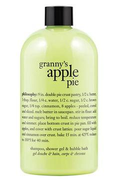 philosophy 'granny's homemade apple pie' shampoo, shower gel & bubble bath | Nordstrom
