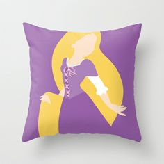 Rapunzel - Tangled 2  Throw Pillow by Adrian Mentus - $20.00