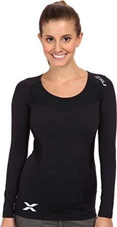 2XU Womens Long Sleeve Compression Top BlackBlack Medium ** Check out this great product by click affiliate link Amazon.com