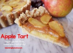 This apple tart is perfectly sweet, filled with warm spices, and the best impressive and healthy dessert to welcome fall! Vegan, gluten free, and sweetened naturally. | beamingbanana.com