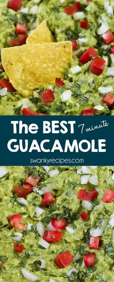 Real Mexican Guacamole served as a party dip. The BEST Guacamole made with authentic Mexican ingredients like onion, avocado, garlic, cilantro, tomato, and garlic.  Gluten-free / Keto diet option / sugar-free / vegan / vegetarian