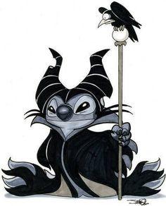 Disney | Stitch as Maleficent
