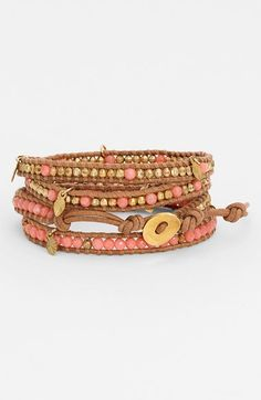 Free shipping and returns on Chan Luu Beaded Wrap Bracelet at Nordstrom.com. Supple leather comfortably coils into a towering wrap bracelet beaded by hand with vivid semiprecious stones and flashing metallic nuggets.