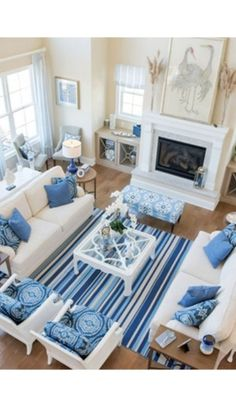 3 Miraculous Cool Tips: Coastal Interiors Beams coastal fireplace sofa tables.Coastal Home Windows. in fireplace ideas living rooms Captivating Coastal Living Room Black Ideas room furniture arrangement ideas Coastal Living Rooms, Home Living Room, Living Room Designs, Blue Living Room Decor, Cottage Living, Cool Living Room Ideas, Living Room Setup, Beach Living Room, Blue Home Decor