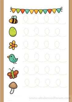 Preschool simple line work Tracing Worksheets, Preschool Worksheets, Kindergarten Activities, Preschool Activities, Pre Writing, Writing Skills, Preschool Writing, Activity Sheets, Kids Education