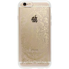 Rifle Paper Co. Clear Gold Floral Lace, iPhone 6 (€22) ❤ liked on Polyvore featuring accessories, tech accessories, phone cases, phone, electronics and cases