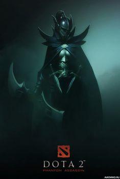 Phantom Assassin стоит в мрачном свете с кинжалами на поясе — Авы и картинки