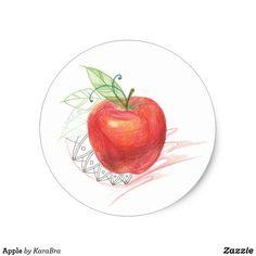 Red apple. Fresh fruits.