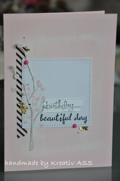 Karte Zweig2018 4 Beautiful Day, Scrap, Wordpress, Handmade, Cards, Creative Ideas, Hand Made, Tat, Arm Work