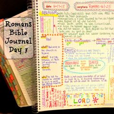 I'm on Day 7 of my Romans Bible Journal. I love using this journal to record what God is teaching me through this study! You can download single pages or buy the printed book at Farm Girl Journals on Etsy.