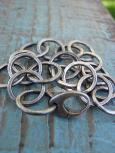 I really like this piece's simplicity ... Silver Organic Bracelet Simple handmade chain by CopperTreeArt, $165.00