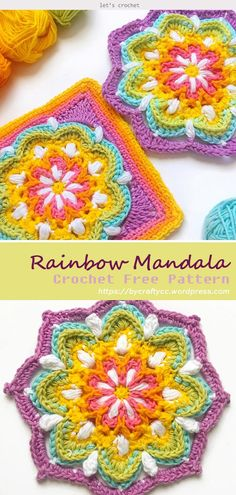 Transcendent Crochet a Solid Granny Square Ideas. Inconceivable Crochet a Solid Granny Square Ideas. Motif Mandala Crochet, Crochet Motifs, Granny Square Crochet Pattern, Afghan Crochet Patterns, Crochet Squares, Crochet Stitches, Free Crochet, Knitting Patterns, Mandala Blanket