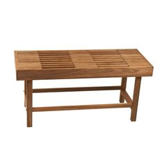 L x 14 W x 18 H Rigid Leg Teak Bench With Slats-Have a seat in one of the most comfortable and popular teak benches from My Teak Shower Bench. Shower Chair, Shower Seat, Shower Floor, Shower Benches, Wooden Shower Bench, Bathtub Accessories, Spa Accessories, Standing Shower, How To Waterproof Wood