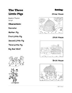 Enjoy practicing reading with expression with this Reader's Theater script based on the classic tale of the Three Little Pigs. Fairy Tale Activities, Drama Activities, Phonics Activities, Teaching Channel, Student Teaching, Teaching Art, Dramatic Play Centers, Readers Theater, First Grade Reading