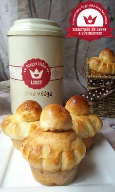 Fahéjas marcipános francia briós Nagyi titkával Minden, Brie, Muffin, Breakfast, Food, Caramel, Breakfast Cafe, Muffins, Essen