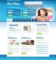 Cool Wave Conditioning Joomla Template by Dynamic Template