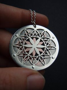 Double Layer Flower of Life Pendant by JeanBurgersJewellery, $260.00;;;;;;;;;;;;;;;;;I can't make this but I sure do like it! ---> Great tools for light-workers.. Flower of Life T-Shirts, V-necks, Sweaters, Hoodies & More ONLY 13$ EACH! LIMITED TIME CLICK THE PIC