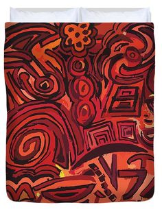 Edredón Red Symbols. / Red Symbols Duvet Cover.