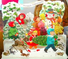 Vintage Christmas Card by Jeremiah Christopher