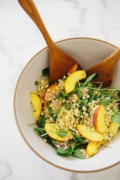 Grilled corn and peach salad via A House in the Hills