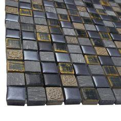 "EliteTile Isle 0.625"" x 0.625"" Porcelain Mosaic Tile in Baltica"
