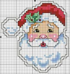 56 ideas for crochet christmas santa cross stitch Santa Cross Stitch, Cross Stitch Cards, Cross Stitching, Cross Stitch Embroidery, Embroidery Patterns, Loom Patterns, Knitting Patterns, Cross Stitch Christmas Ornaments, Christmas Embroidery