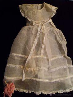 Ref J 78 Vestido de batista y encaje, ideal ropa de muñecas. Ropa antigua para muñecas. Años 1900 (Antigüedades - Moda - Infantil - Vestidos...