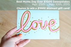 Discover easy Mother's Day gift basket ideas & enter for a chance to win the Best Moms Day Ever Sweepstakes! Prize: $1000 gift card. Rules/Enter: https://www.facebook.com/SoFabChats/app_212097992149339?ref=ts. Ends 5/10/15 at 11:59pm ET. SWEEPS @amgreetings Card photo via @BrePeaBlog.