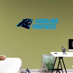 Carolina Panthers Logo   Transfer Decal Wall Decals Are An Easy Decor  Solution From Fathead That Add Elegance To Your Walls.