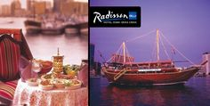 Delight your senses with the famous 2-hour Al Mansour Dhow cruise featuring an International and Arabic buffet by Radisson Blu Hotel, Dubai Deira Creek for AED 99