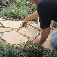 how to install a flagstone path in a weekend...steps one to six with instructions