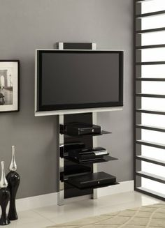 Amazon.com - Altra Furniture Chrome Altra Mount TV Stand - Television Stands