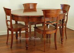Tavolo ovale allungabile e poltroncine parigine con seduta ...