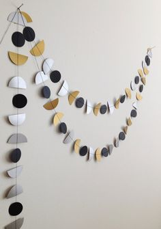 Art Deco Bunting paper garland party decoration by GrayDayStudio - Wall Decor