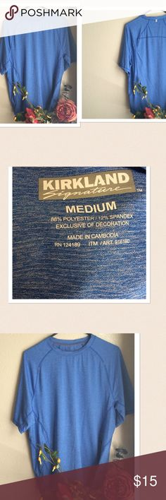 Kirkland Signature Gym Workout Top Final Price: Kirkland Signature Exercise Workout Top. Size: Medium. Color: Blue. New without tag. If this condition is not right for you do not purchase. Kirkland Signature Shirts