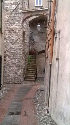 Centro storico di Albenga (Liguria), Italy
