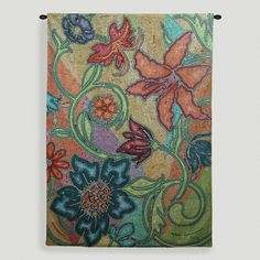 One of my favorite discoveries at WorldMarket.com: Garden Party Mosaic Tapestry Wall Hanging