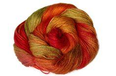 Yarn  Hand Dyed Bamboo Yarn Fall Leaves  95 oz by Klarabela, $46.00