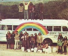 free spirit rainbow hippies