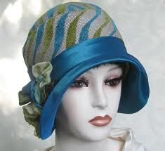 Cloche with Fabric covered brim