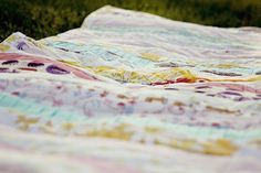 Pleated Strips Beginner Quilt - Learn how to make a strip quilt pattern.