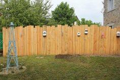 Palissade verticale en bois jardin clotures bordures for Cloture bois flotte