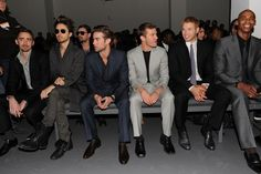 Metal Heavy / Lee Pace, Jared Leto, Chace Crawford, Ryan Phillippe, Kellan Lutz, and Mechad Brooks at the Calvin Klein Men's Collection Fall 2010 Show (February 14, 2010)