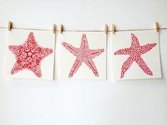ORIGINAL Beach Art - Starfish - Coral by IslandofBlue on Etsy https://www.etsy.com/listing/162475528/original-beach-art-starfish-coral